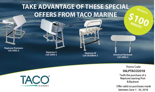 TACO Marine Neptune Leaning Post Rebate